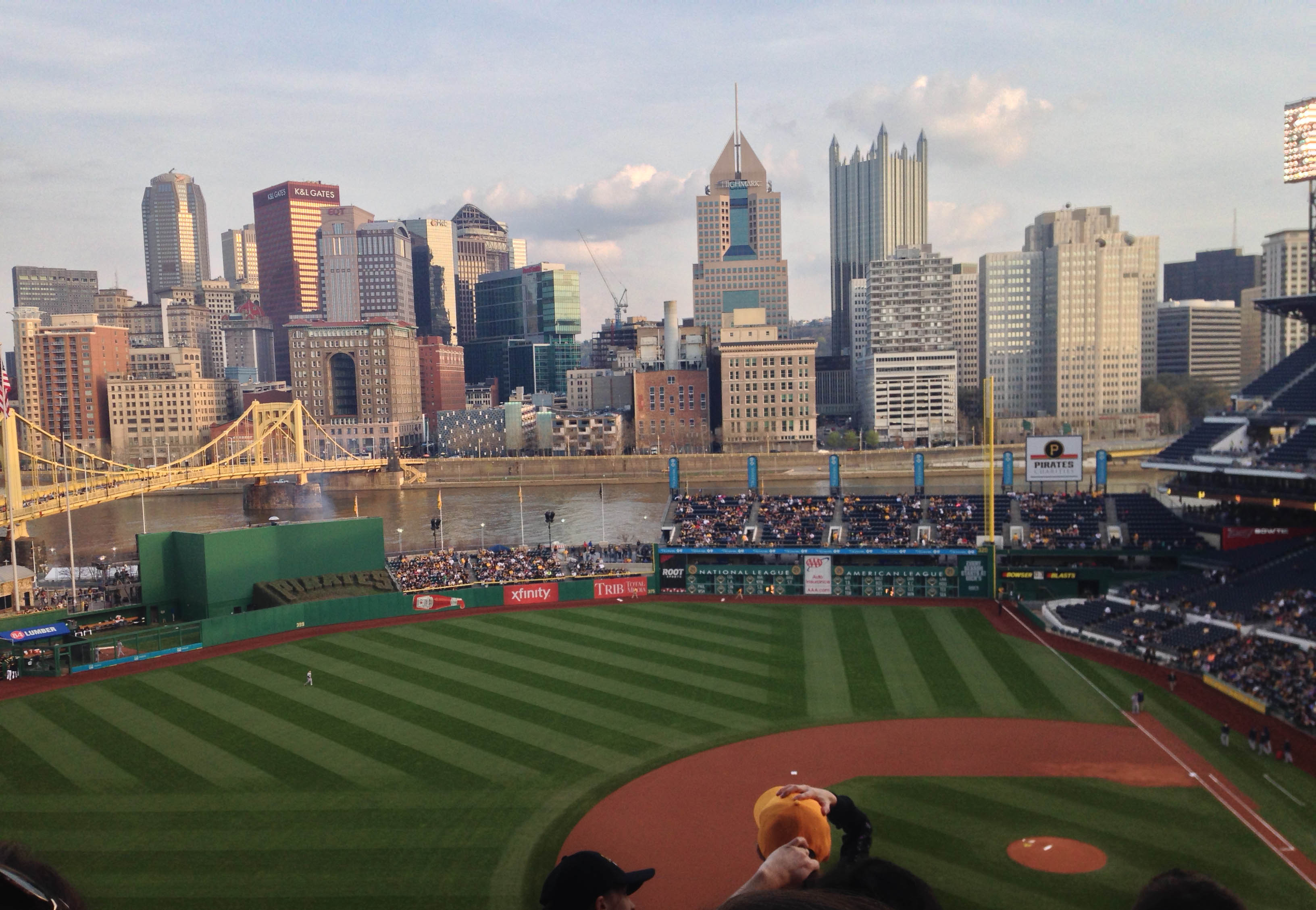 Pittsburgh skyline as seen from PNC Park
