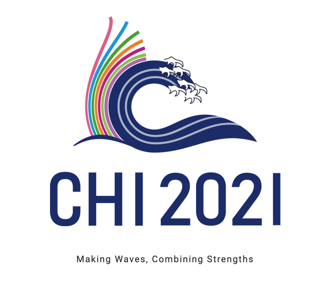 CHI 2021 logo features an ocean wave