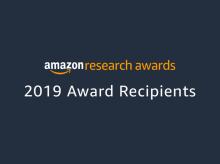 Amazon Research Award logo on navy blue background