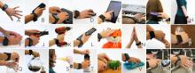 collage of 20+ hand gestures recognized and logged by the sensors