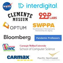 collage of 12 logos of last year's Capstone project sponsors